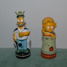 Lot 2 figurine Simpson - Lisa si Homer, 8 si 9cm, marcate Matt Groening 2002 Fox - Figurina Desene animate