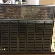 Radio Philips 570 cu afect pt. piese - Aparat radio Philips, Analog