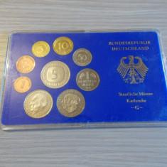 Set monede UNC -Germania 1978-litera G, Europa