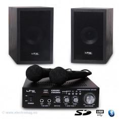 SET KARAOKE AMPLIFICATOR USB 2MIC+2 BOXE MODEL NOU - Mixere DJ