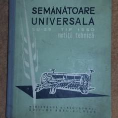 SEMANATOARE UNIVERSALA SU-29 TIP 1960 , NOTITA TEHNICA .