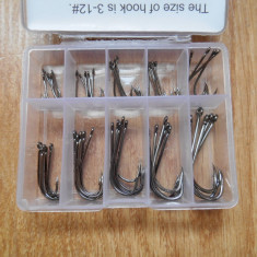 Set 50 carlige pescuit 10 marimi - ace