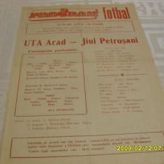 program    UTA  -   Jiul  Petrosani