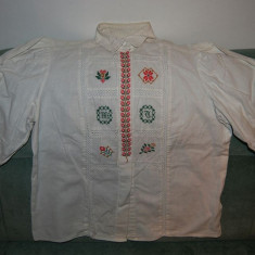 Bluza dame model etno (rustic, folcloric), broderie deosebita rosu verde mustar - Bluza dama, Marime: 36, Culoare: Albastru