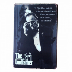 3325.Reclama metalica vintage The Godfather  30 cm X 20 cm