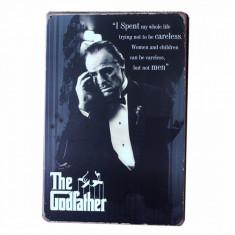 3325.Reclama metalica vintage The Godfather 30 cm X 20 cm - Cutie Reclama