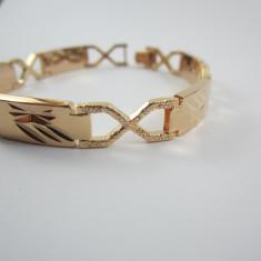 Bratara Barbati dublu placat aur 18k, cod GFB1087 - Bratara placate cu aur, Unisex
