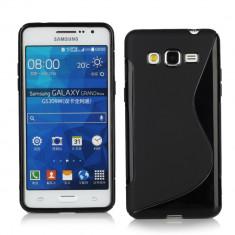 HUSA PROTECTIE SILICON TPU SAMSUNG GALAXY Grand Prime G530 + FOLIE PROTECTIE - Husa Telefon Samsung, Negru, Gel TPU