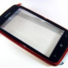 Geam + Touchscreen Nokia 610 (+Rama Rosie) Original - Touchscreen telefon mobil
