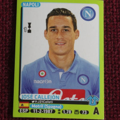 Cartonas / Sticker fotbal - Jose Callejon / Napoli - Calciatori 2014-2015 - Cartonas de colectie