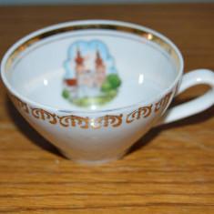 Ceasca mica de ceai, de colectie, de portelan fin, Kahla, Maria Taferl
