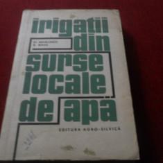 ST MIHALCESCU - IRIGATII DIN SURSE LOCALE DE APA