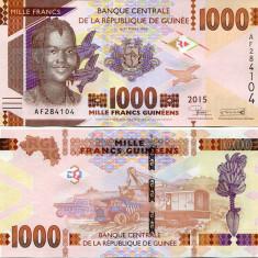 GUINEA- 1000 FRANCS 2015- P NEW- UNC!! - bancnota africa