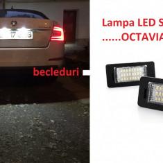 Lampa numar LED Skoda Octavia 3 III - Led auto G-View, Bmw