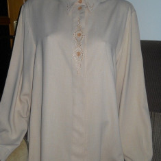 Bluza (camasa) dama, eleganta - Bluza dama, Marime: 42, Culoare: Bej, Maneca lunga, Universala, Vascoza