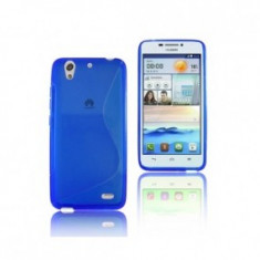 Husa Huawei Ascend Y6 TPU S-LINE Blue - Husa Telefon Huawei, Albastru, Gel TPU, Fara snur, Carcasa