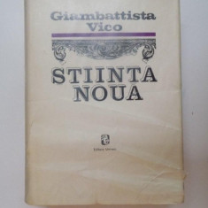 STIINTA NOUA-GIAMBATISTA VICO 1972 - Carte Psihologie