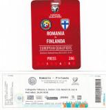 Bilet meci fotbal + Acreditare ROMANIA - FINLANDA 08.10.2015 (Calificari CE)