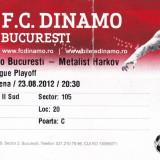 Bilet meci fotbal DINAMO BUCURESTI - METALIST HARKOV (Europa League 23.08.2012)