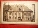 Ilustrata Cluj 1913 - Casa lui M.Corvin , cu relief