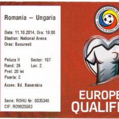 Bilet meci fotbal ROMANIA - UNGARIA 11.10.2014
