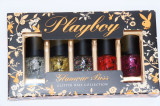 SET CADOU 5 OJE CU SCLIPICI PLAYBOY GLAMOUR PUSS GLITTER NAIL COLLECTION