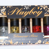 SET CADOU 5 OJE PLAYBOY GLAMOUR PUSS GLITTER NAIL COLLECTION - Oja