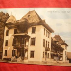 Ilustrata Slanic Moldova - Hotel Puff 1912 - Ed.Depozit Saraga, circ.Podu Turc - Carte Postala Moldova 1904-1918, Stare: Circulata, Tip: Printata