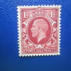 TIMBRE ANGLIA VECHI 1921 BRAUN
