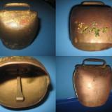 Talanga clopotel veche rustica in metal bronzuit. - Metal/Fonta