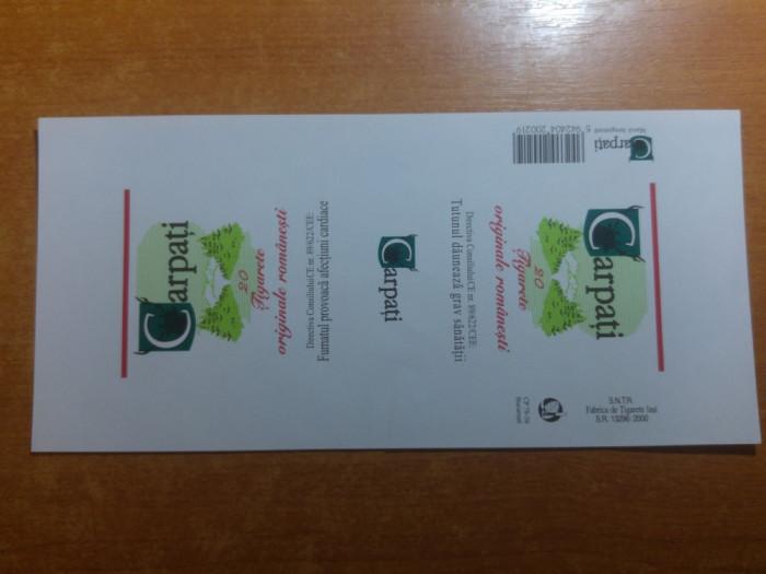 "ambalaj original nefolosit tigari romanesti ""carpati""- fabrica de tigari iasi"