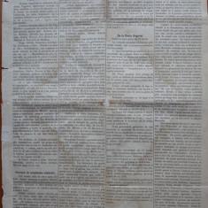 Ziarul Albina , nr. 21 , 1870 , Budapesta , in limba romana , Director V. Babes