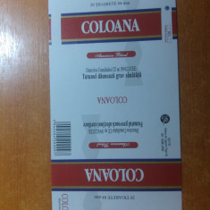 "ambalaj original nefolosit tigari romanesti""coloana""-fabrica de tigari targu-jiu"