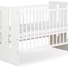 Patuturi Copii Din Lemn Klups Paula Alb - Patut lemn pentru bebelusi Klups, 120x60cm