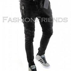 Blugi tip Zara fashion - blugi barbati blugi slimfit blugi conici - cod 5795, Marime: 34, Culoare: Din imagine