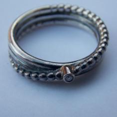 Inel argint Pandora diamant-495