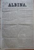 Ziarul Albina , nr. 16 , 1870 , Budapesta , in limba romana , Director V. Babes