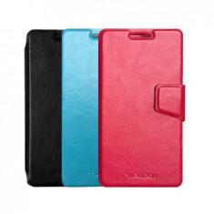 Husa Allview A5 QUAD Plus Flip Case Inchidere Magnetica Roz