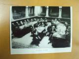 Academia Romana N. Iorga 1912 sedinta fotografie noua  alb - negru, Necirculata