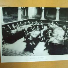 Academia Romana N. Iorga 1912 sedinta fotografie noua alb - negru - Carte Postala Muntenia dupa 1918, Necirculata