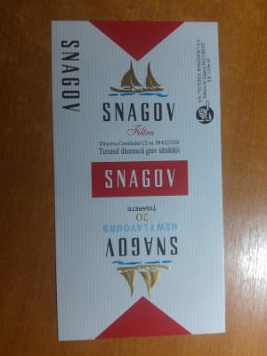 "ambalaj original nefolosit tigari romanesti""snagov""-fabrica de tigari bucuresti foto"