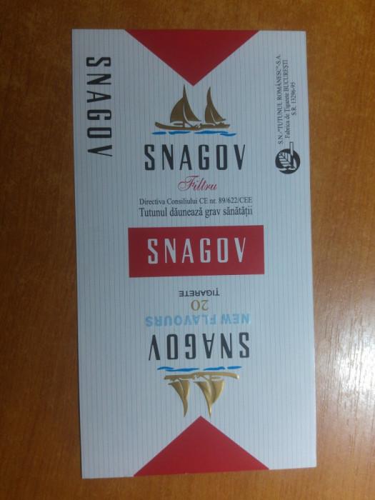 "ambalaj original nefolosit tigari romanesti""snagov""-fabrica de tigari bucuresti"