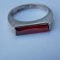 Inel argint zirconiu rosu - 279