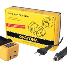 PATONA | Incarcator synchro LCD pt Sony NP F970 F960 F550 NPF970 NPFM50 NPFM500H - Incarcator Aparat Foto