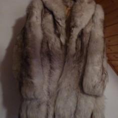 Blana superba vulpe polara+ - Palton dama, Marime: 44/46, Culoare: Argintiu