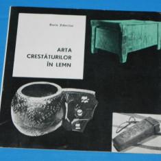 PLIANT publicitar ARTA CRESTATURILOR IN LEMN - BORIS ZDERCIUC fondul plastic - Album Muzee