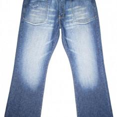 (BATAL) Blugi COOLOVER - (MARIME: 38) - Talie = 104 CM, Lungime = 115 CM - Blugi barbati, Culoare: Albastru, Prespalat, Bootcut, Normal