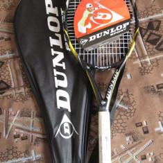 Racheta tenis DUNLOP FUSION 100 - NOUA! (in tipla si geanta) 50% REDUCERE!!! - Racheta tenis de camp Dunlop, Performanta, Adulti, Aluminiu/Grafit
