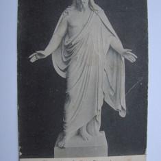 Carte postala Thorwaldsen Le Christ Benissant circulata in 1903, Printata, Belgia