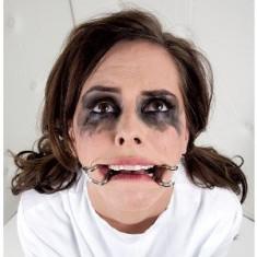 Calus Carlige Carlig Mouth Gag Crazy Girl Open Curea Piele Reglabila
